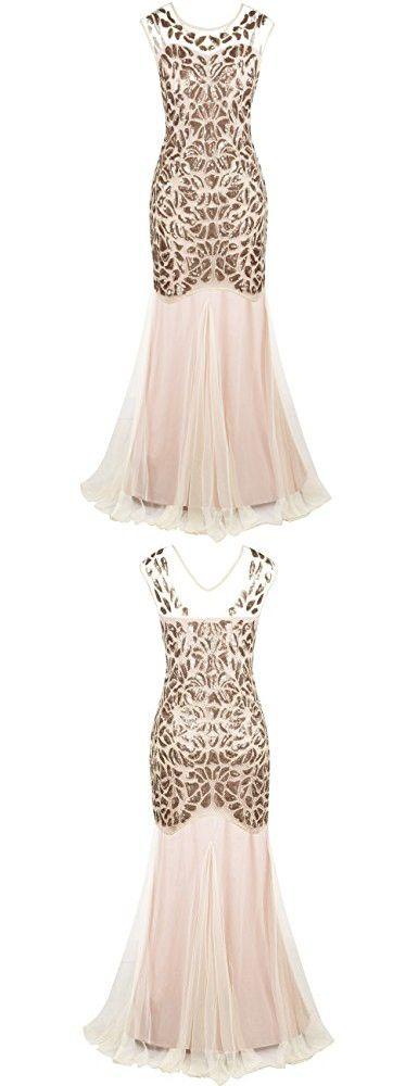 PrettyGuide Women\'s 1920s Ball Gown Art Deco Flapper Formal ...