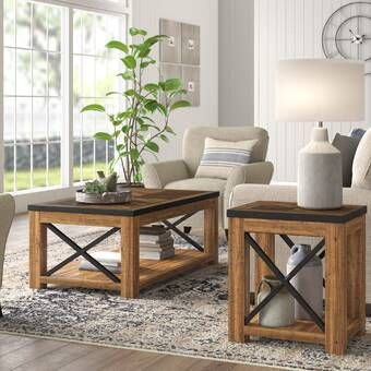 Audio Upholstery 3 Piece Coffee Table Set In 2021 Modern Farmhouse Coffee Table Coffee Table Setting Farmhouse Coffee Table Sets