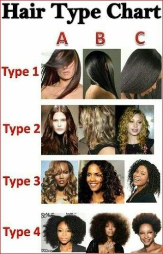 Different Hair Types Hair Type Chart Natural Hair Types