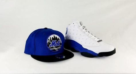 f583c844357c8 Matching New Era New York Mets 9Fifty Snapback Hat for Jordan 13 Hyper Royal