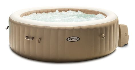 Spa Gonflable Purespa Sahara Rond Bulles 4 Places Intex In 2020 Best Inflatable Hot Tub Intex Hot Tub Round Hot Tub