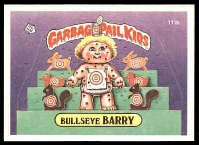 1986 Topps Garbage Pail Kids Series 3 Bullseye Barry 111b Ebay Kids Series Garbage Pail Kids Cards Garbage Pail Kids