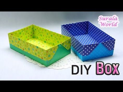 Origami Gift Box with One Sheet of Paper - YouTube | 355x473