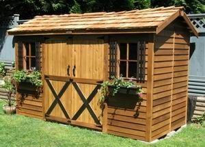 220 best wood sheds images on pinterest outdoor storage sheds