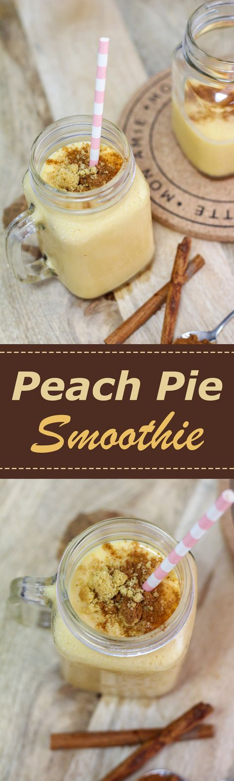 A smoothie that has all the flavors of a peach pie!