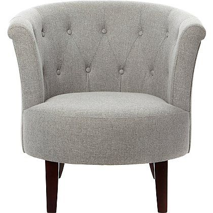 Buttoned Tub Chair Grey Furniture George Retro Dining Chairs Chair Chairs For Small Spaces
