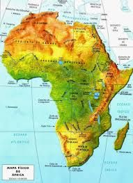 Mapa De Africa Rios.En Este Mapa Aprenderas A Situar El Relieve Africano Africa Mapa Mapas Mapa Fisico