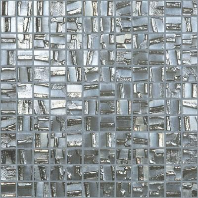 Mtod0002 Modern 1x1 Squares Silver Metallic Look Glass Mosaic Tile