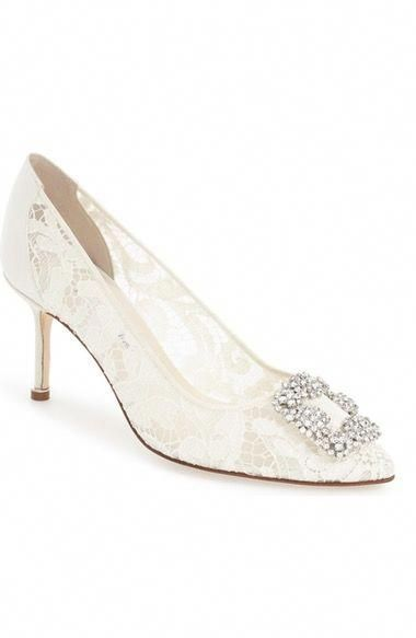 5d33dc735cc9e Manolo Blahnik 'Hangisi' Pointy Toe Lace Pump (Women) available at  #Nordstrom