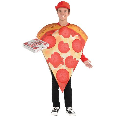 Amscan Kid's Pizza Halloween Costume, Standard