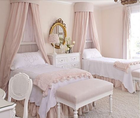 20 Elegant French Bedroom Design Ideas | Pink bedroom design ...