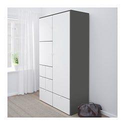 Visthus Garderobeskab Gra Hvid 122x59x216 Cm Ikea Kleiderschrank Grau Kleiderschrank Jugendzimmer Kleiderschrank