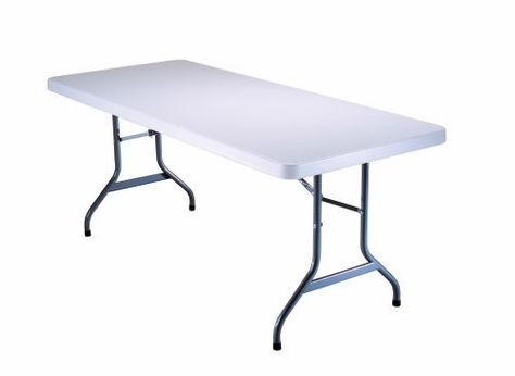 Lifetime 6 Foot Utility Tables Set Of 4 White By Lifetime