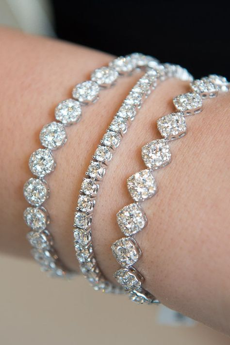 Add a little bit of sparkle or add a lot, with diamond bracelets to suit your style. From classic to modern to romantic, there is a look for every jewelry wardrobe.