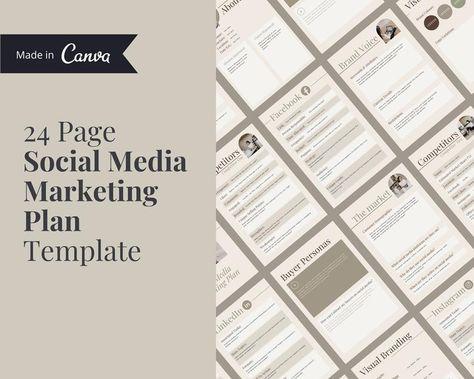 Social Media Marketing Plan Template | Social Media Planner | Social Media Strategy | Marketing Template | Social Media Plan