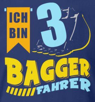 Geburtstag 3 Jahre Jungen Bagger Ich Bin In 2020 Geburtstag