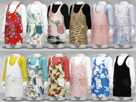 TØMMERAAS' Long-Sleeved Pinafore Dress