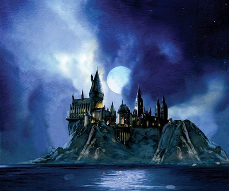 Harry Potter Gorgeous Hogwarts Giclee on Paper SIGNED by Jim Salvati Limited Edition of 250