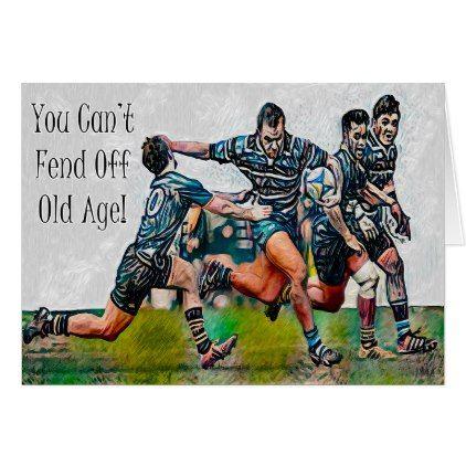 Personalized Rugby Birthday Card Zazzle Com Rugby Birthday Birthday Cards Rugby Art