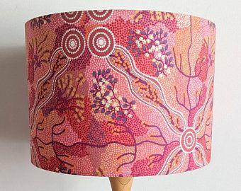 Aboriginal Outback Lampshade Australian Indigenous Art Fabric
