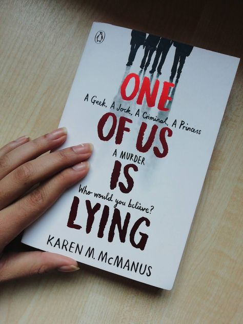 One Of Us Is Lying by Karen M. McManus was my first read of the year. Usually I would have a book ready to read from the of January, . Best Books To Read, I Love Books, Good Books, My Books, Book Club Books, Book Nerd, Book Lists, Book Suggestions, Book Recommendations
