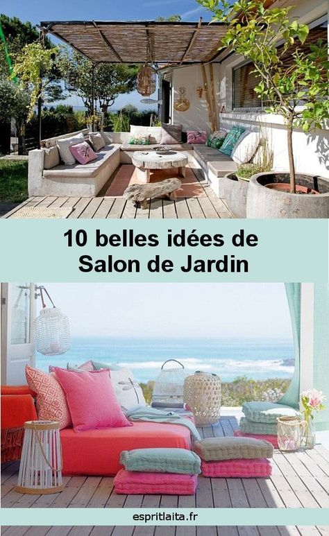 10 Idees De Salon De Jardin Agrement De Jardin Idee Salon Et