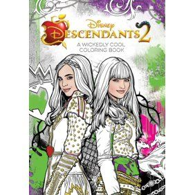 Descendants 2 Evie S Fashion Book Hardcover Walmart Com Coloring Book Art Disney Books Coloring Books