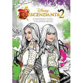 Descendants 2 Evie S Fashion Book Hardcover Walmart Com Coloring Book Art Disney Books Coloring Books