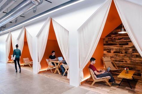 Conversation nooks at Airbnb • The Next Hot Thing in Cool Office Design   Inc.com