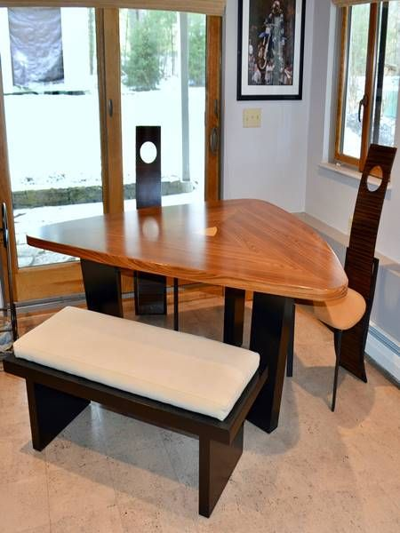 Diy Triangle Dining Table With Bench Plans Dining Table With Bench Dining Table Kitchen Table Bench