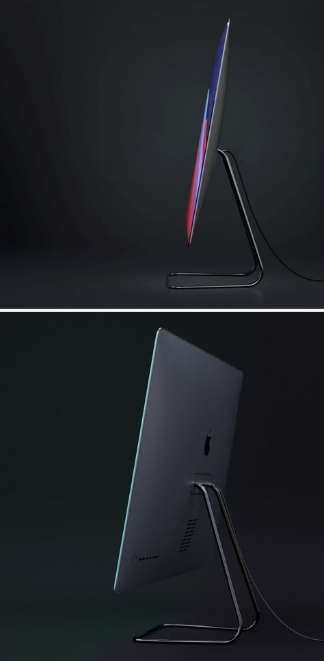 Here's what the M1 iMac would look like if Apple ditched the white bezels and large chin for a 100%