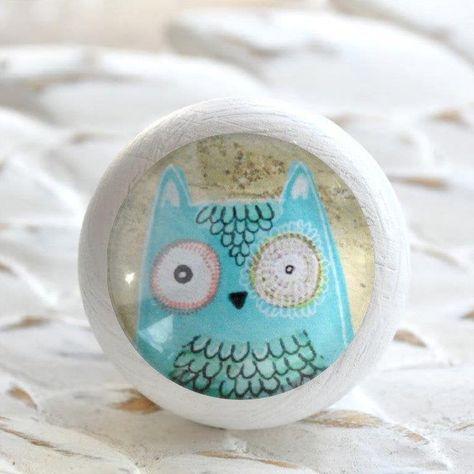 Holzknauf Möbelknauf OWL pink von Shabbyflair
