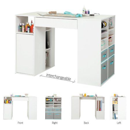 Arts Crafts Sewing Craft Tables With Storage Sewing Room