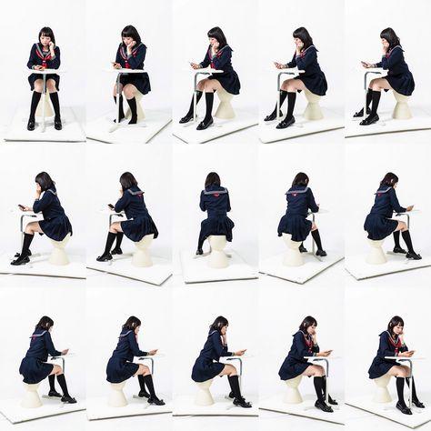 人物 No.006 冬服の女子高生 - すべてトレース可能!漫画の資料ドットネット
