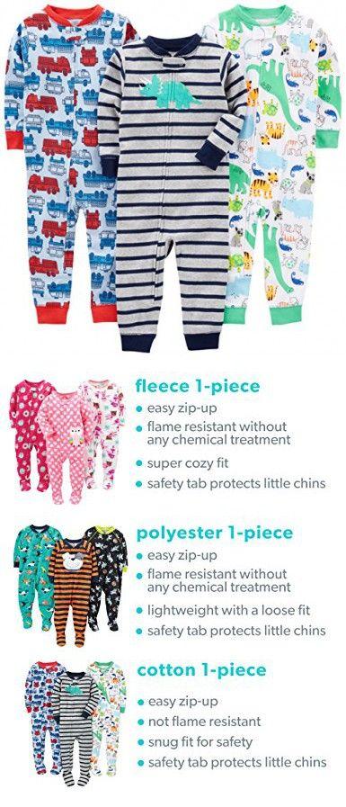 Simple Joys by Carters baby-boys 3-pack Snug-fit Footless Cotton Pajamas Pajama Set
