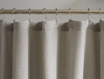 Coyuchi Waffle Organic Shower Curtain 72 X72 Alpine White In