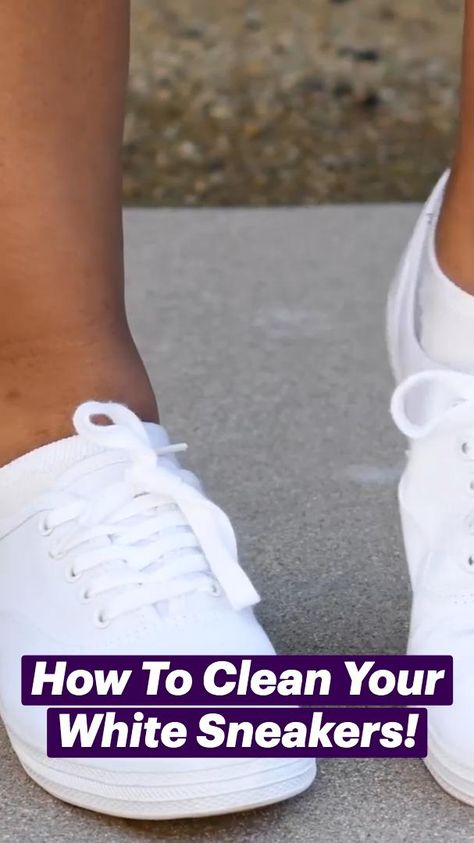 How To Clean Your White Sneakers & White T-Shirt!