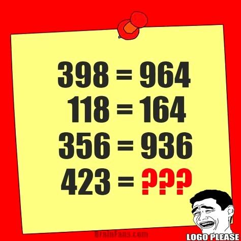 Brain Teaser Number And Math Puzzle Math Riddle With Answer
