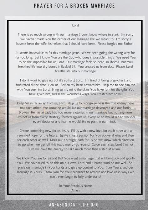 Prayer For A Broken Marriage Broken Marriage Quotes Broken