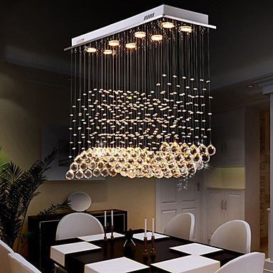 Modern LED Ceiling Fixture NEW Chandelier Lighting Crystal Chandeliers 8 LIGHTS