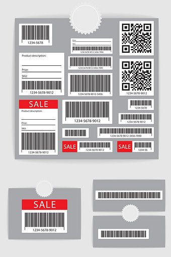 Vector Promotional Product Barcode Qr Code Png Images Ai Free Download Pikbest Barcode Design Ticket Design Magazine Layout Design