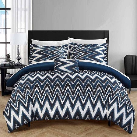 8pc Navy Blue Duvet Cover /& Bedroom Comforter AND Microfiber Sheet Set