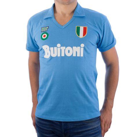 Show details for Ennerre - Napoli Buitoni Maradona Retro Shirt  3a45ca69f