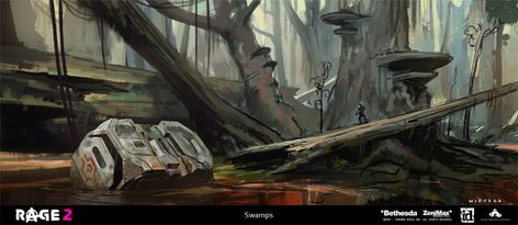 Artstation Rage 2 Environments Thomas Wievegg Art Inspiration Art Art Direction