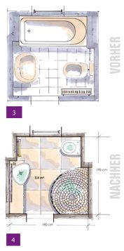 Kleine Bäder, Minibäder, Kleine Badezimmer Unter 4m² | Home: Badezimmer /  Bathroom | Pinterest | Bathroom Plans, Tiny Houses And House