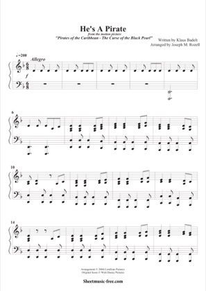 Print And Download For Free Pirates Of The Caribbean Piano Sheet