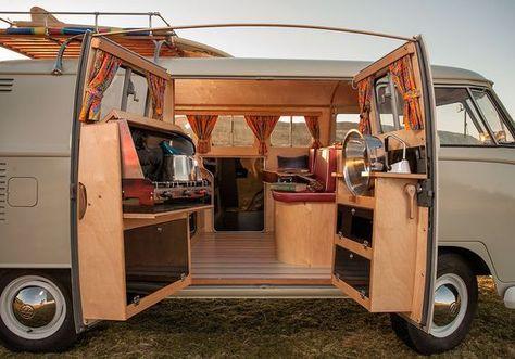 More than 30 extraordinary home remodeling ideas for motorhomes for inspiration - Kastenwagen in wohnmobil umbau - Camping Van Vw, Voltswagon Van, Vw Kombi Van, Volkswagen Westfalia, Kombi Home, Camper Kitchen, Van Home, Combi Vw, Camper Van Conversion Diy