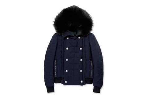 Balmain Hooded Fur Jacket