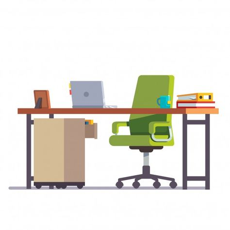 Download Home Or Office Desk With Casters Chair For Free In 2020 Caster Chairs Desk Home
