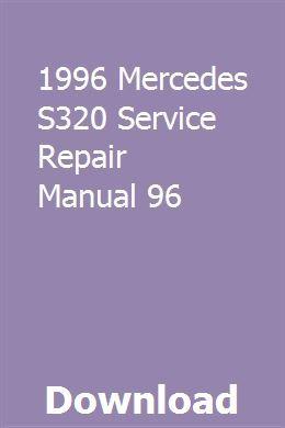 1996 Mercedes S320 Service Repair Manual 96 Repair Manuals Transmission Repair Repair